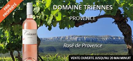 Vin rosé du domaine de Triennes en vente privée